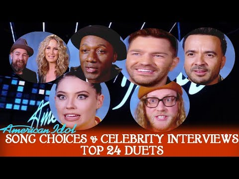 TOP 24 SONG CHOICES & INTERVIEWS CELEBRITY DUETS  American Idol 2018  TOP 24 -April-9 & 16