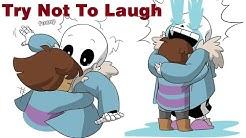 Sans - Try Not To Laugh Challenge 【 Undertale Comic Dub Compilation 】