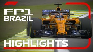2018 Brazilian Grand Prix: FP1 Highlights