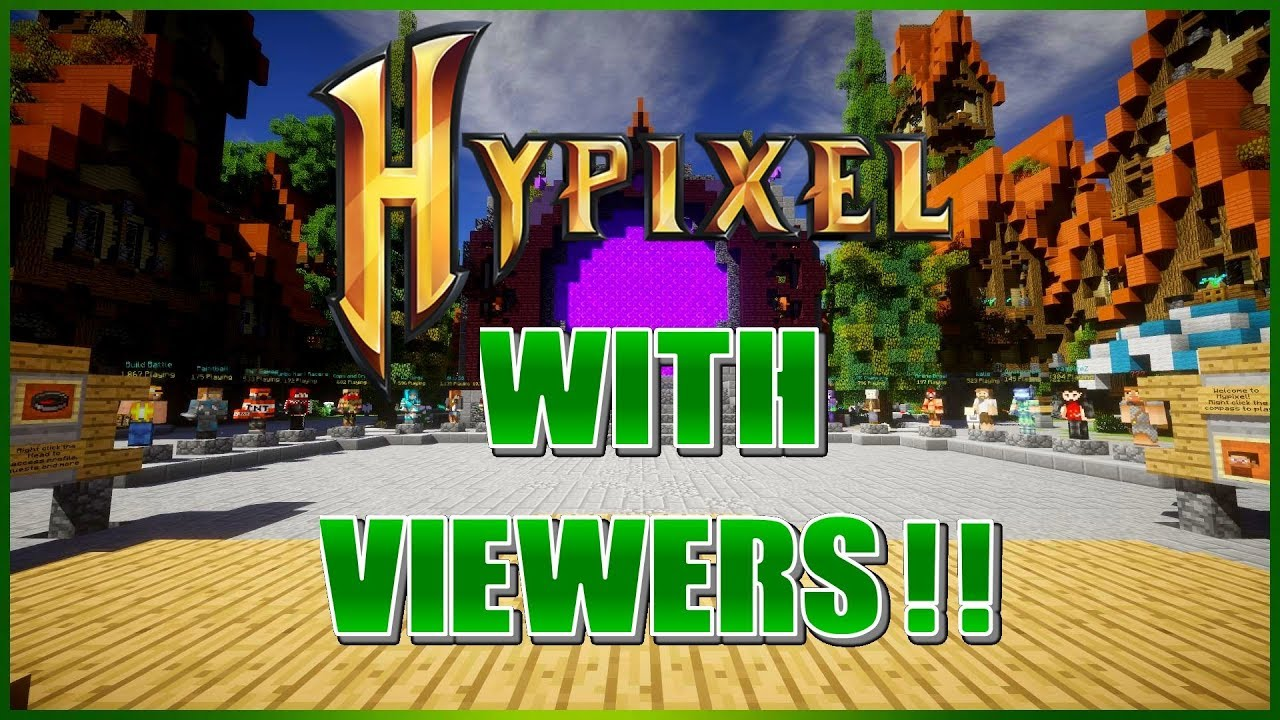 🔴HYPIXEL MINECRAFT LIVE!! ~PUBLIC PARTY!!~ (Road to 5K!!) -/p join  Evanmcgaming-