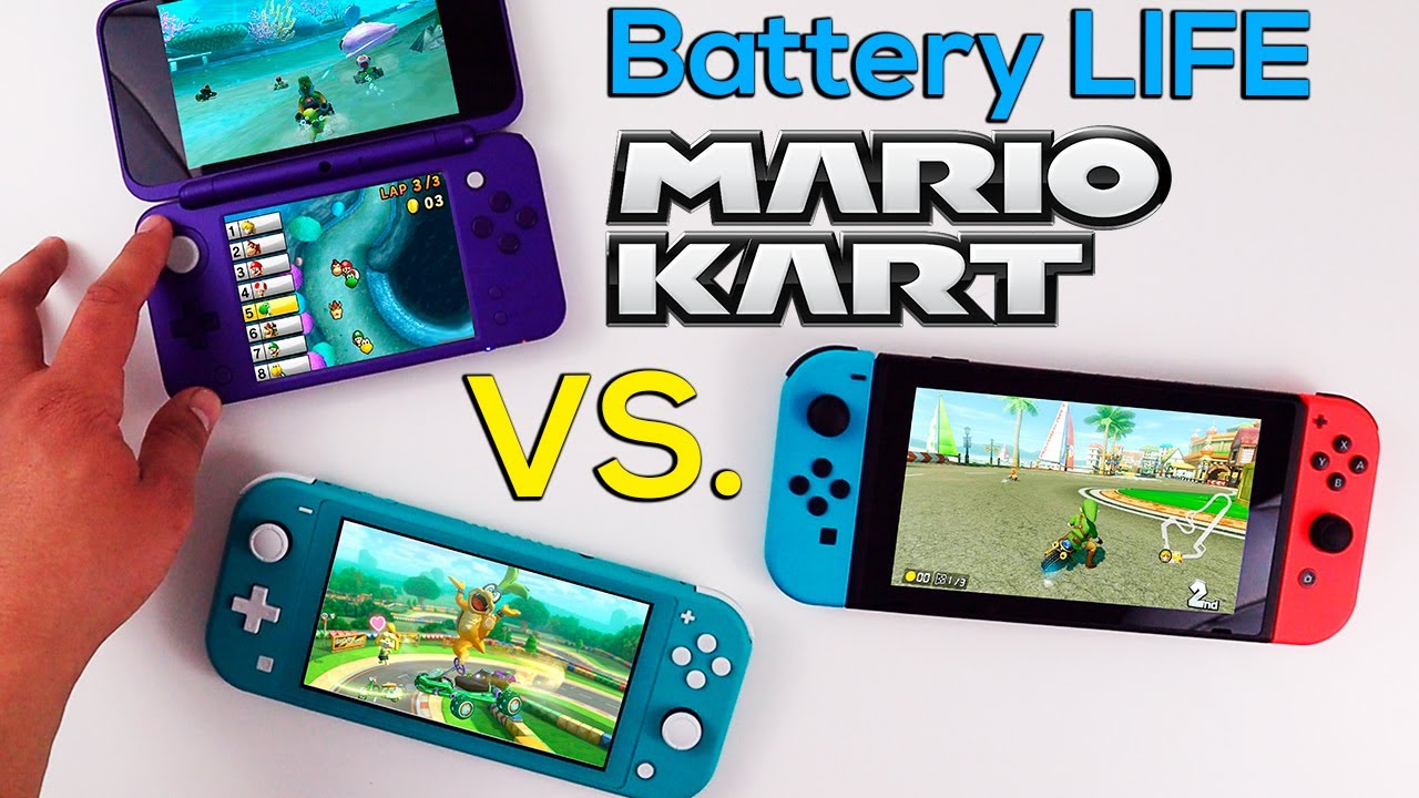 Battery Life Of Mario Kart Comparing 2dsxl To Nintendo Switch Lite And Switch Lite
