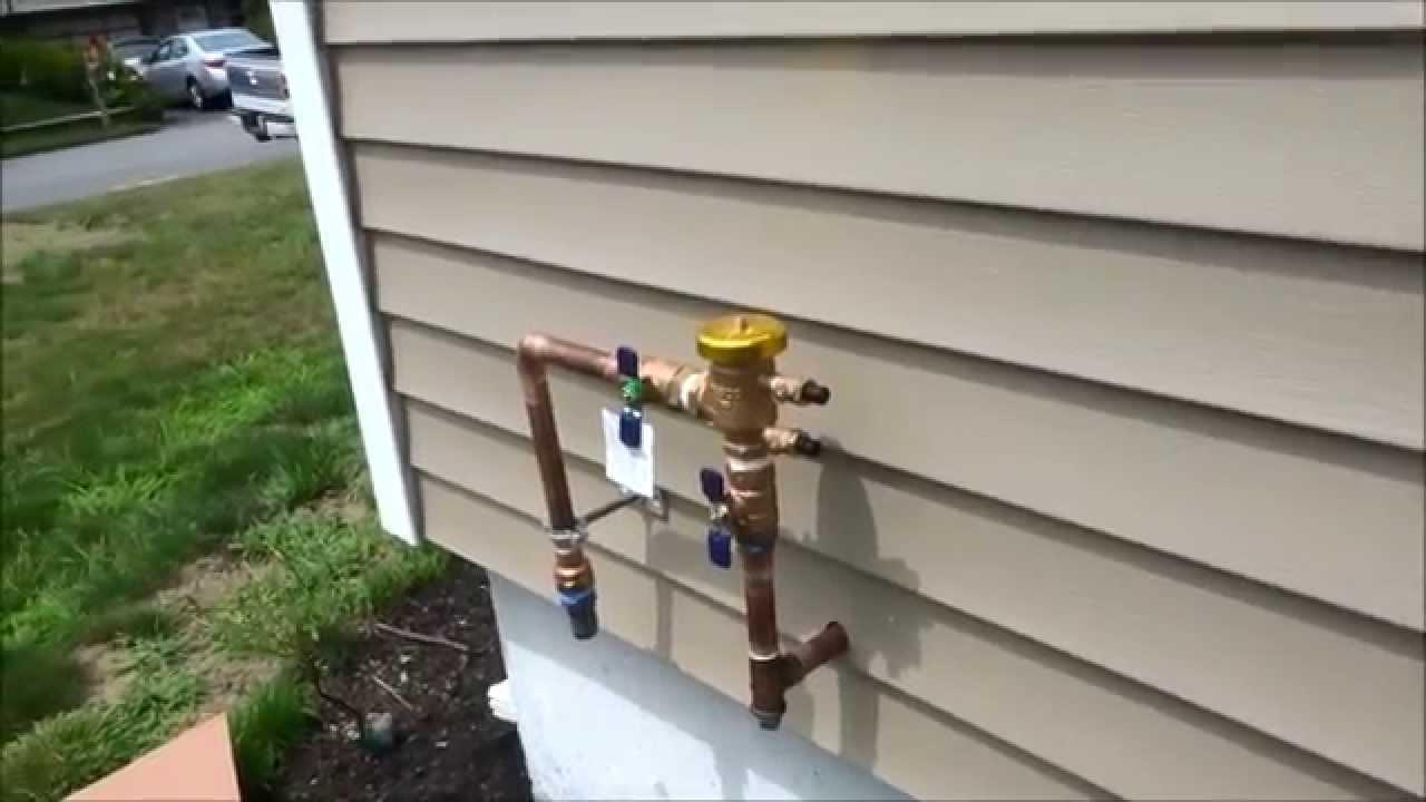 sprinkler system backflow preventer diagram fujitsu ductless wiring installed new lawn youtube