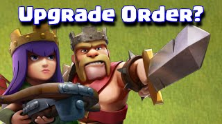 Clash Of Clans Which Hero To Upgrade First Barbarian King Or Archer Queen | Hero Upgrade Order