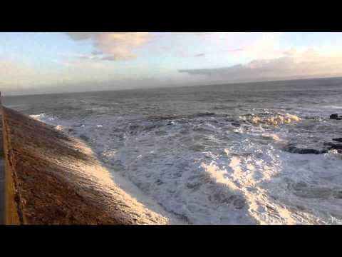 Porthcawl seafront, and some huge waves, February 28th 2014