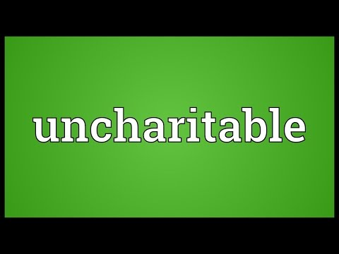 Header of uncharitable