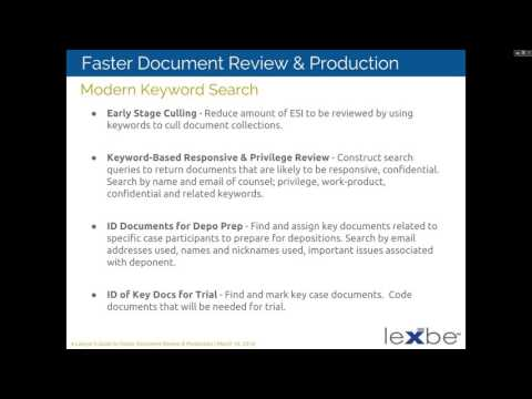 A Lawyers Guide to Faster Document Review and Production