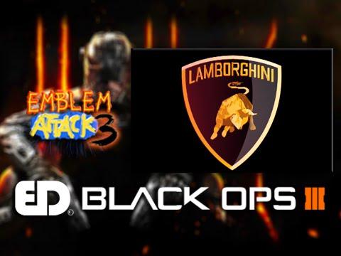 Black Ops 3 Lamborghini Emblem Tutorial Emblem Attack 3 Youtube