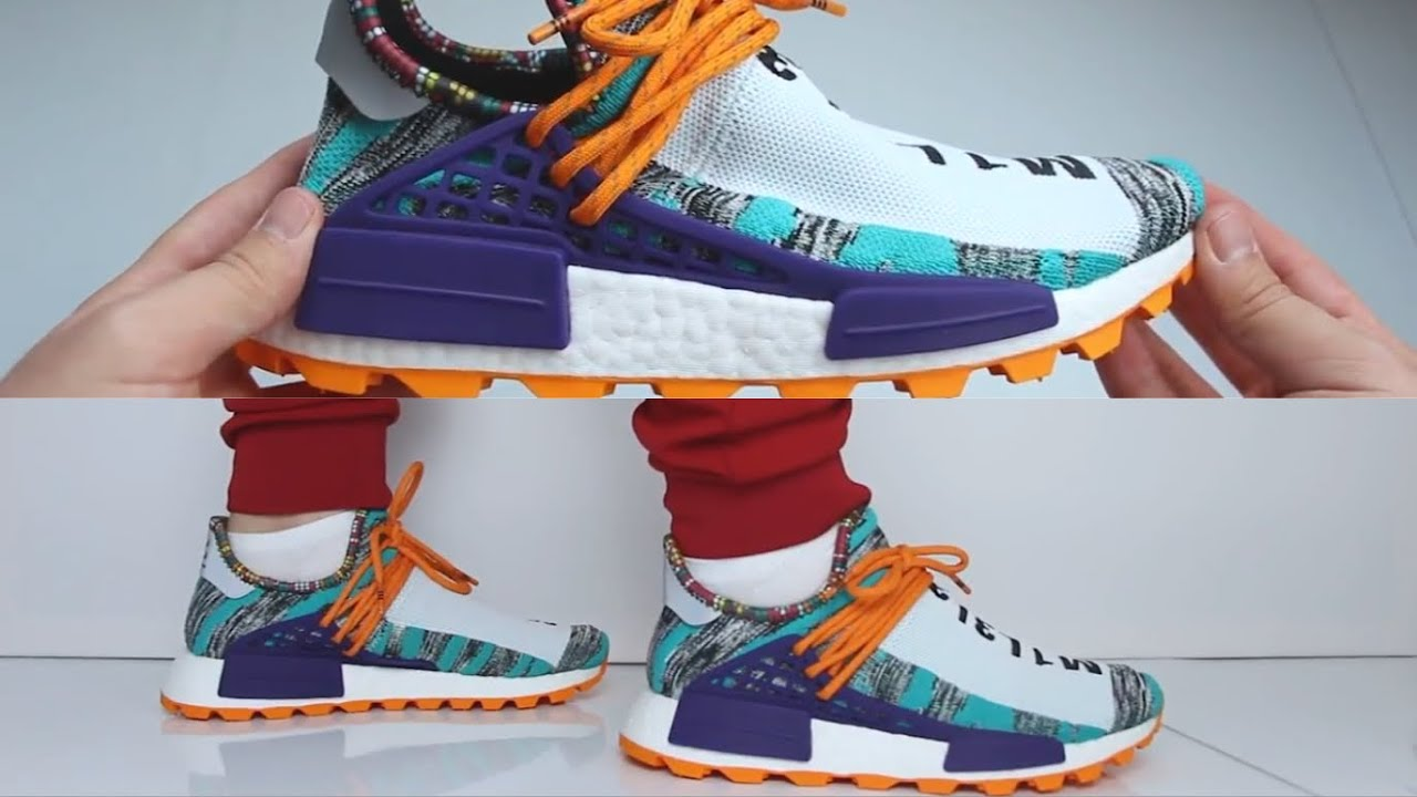 eca4d59cc Pharrell Williams x Adidas Hu Nmd Trail Solar