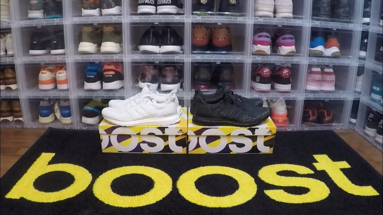 7d579a10738 On Feet Review  Adidas Ultra Boost Clima 2018 (Black Carbon + Triple White  Pair) Unboxing + Weighing