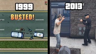"""Evolution of """"BUSTED"""" in GTA Games!"""