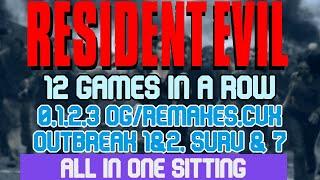 12 RESIDENT EVIL SPEEDRUNS in 13:06:23
