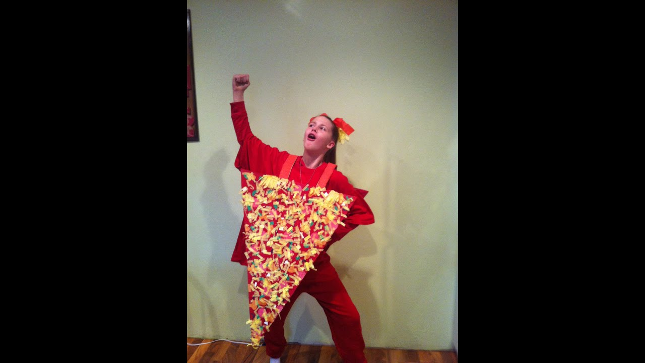 sc 1 st  YouTube & How to make a slice of pizza halloween costume - YouTube