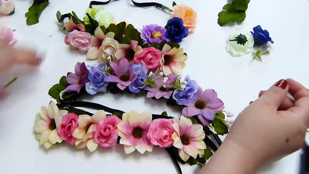 Corona flores artificiales corona de flores todas las - Coronitas de flores ...