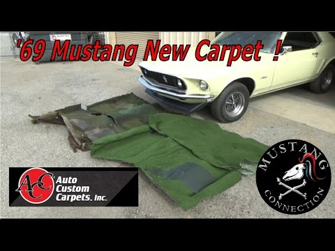 1969 Ford Mustang Carpet Refresh Auto Custom Carpet Mustang Connection Youtube