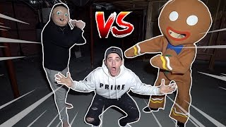(Insane) EVIL GingerBread Man meets Happy Death Day at 3AM! (They Battle Each other )