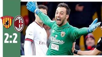 Benevento Calcio – AC Mailand 2:2 / Crazy Kopfball-Tor von Keeper Brignoli