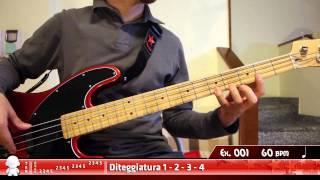 Basso Elettrico - Dexterity - Esercizio 001