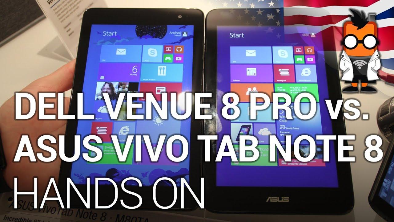 ASUS VivoTab Note 8 vs Dell 8 Pro - CES 2014