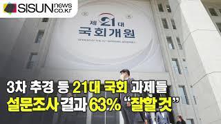 """3차 추경 등 21대 국회 과제들...설문조사 결과 63% """"잘할 것""""  [이슈체크]"""