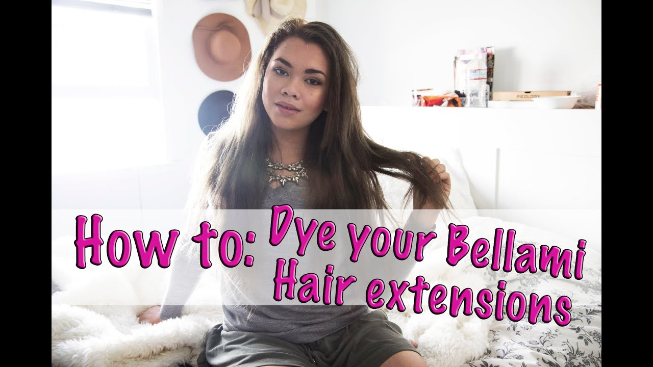 how to dye your bellami hair extensions youtube pmusecretfo Choice Image