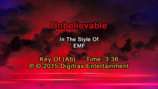 EMF - Unbelievable (Backing Track)