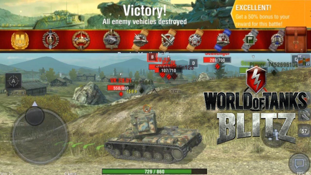 WoT: Blitz - KV-2 Mastery (5 Kills   3 2k+ dmg)
