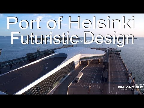 Uusi Länsiterminaali 2, ilmasta. Port Of Helsinki by Drone (4K) Futuristic West Port Terminal 2