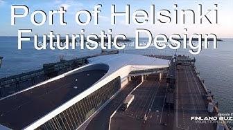 Uusi Länsiterminaali 2, ilmasta. Port Of Helsinki by Drone (4K) Futuristic West Port Terminal 2