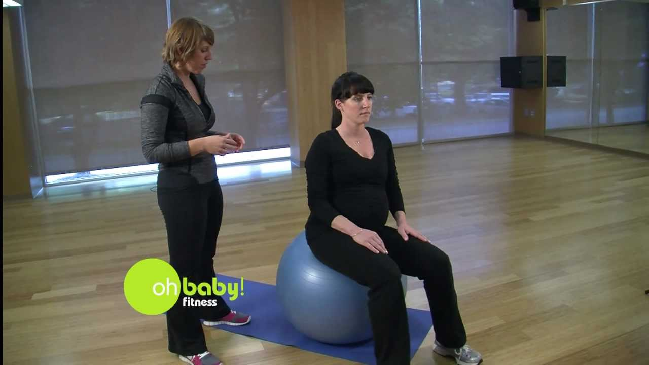Oh Baby Fitness Stability Ball Exercise For Pregnancy Youtube