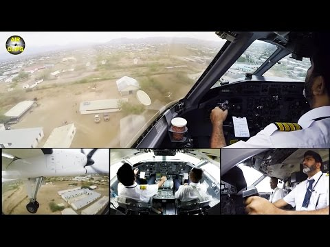 Unpaved Airstrip Landing! ALS Dash 8 smoothly landed by Captain Armadeep [AirClips]