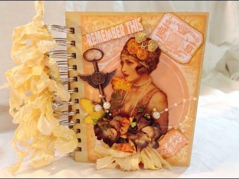 Shabby Vintage Mini Album/Journal DT Project & Tutorial