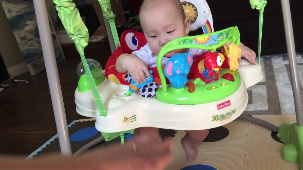 28c7911c1 Fisher-Price Rainforest Jumperoo Review  He Loves it!!!!!!!!! - YouTube