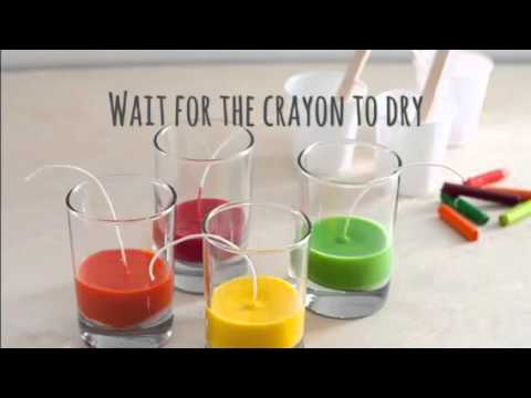 How to Make Candles out of Crayons - YouTube