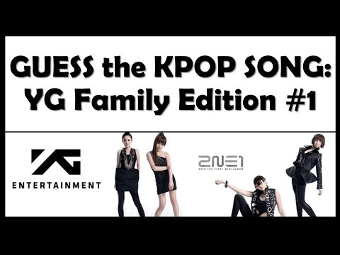Guess the Kpop Song: YG Family Edition #1