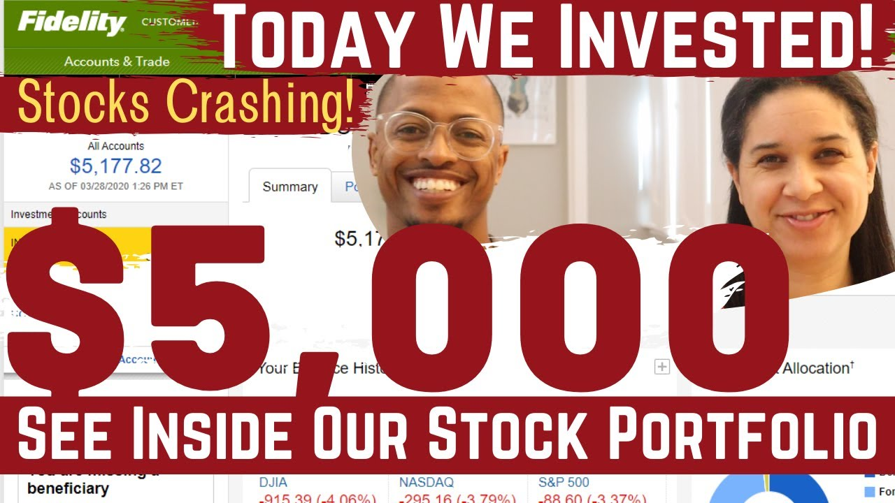 We Invested $5,000 In the Crashing Stock Market | See Our Portfolio (Ep. 1)
