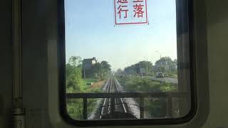 2019.7.27(土)6:37 南寧発ハノイ行きT8701/MR2列車(三線区間の後方展望)