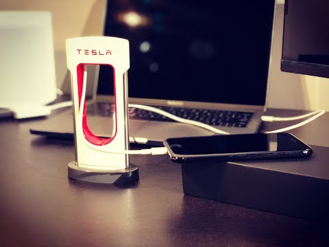 Tesla Desktop Supercharger Unboxing and Cable Installation