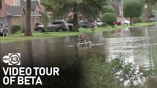 Video tour of flooding and high water around the Houston area