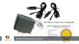 UpBright® Car + Wall Charger + 2Pcs USB Cords For Seagate GoFlex Satellite 1AYBA1 1AYBP1-500 500 GB