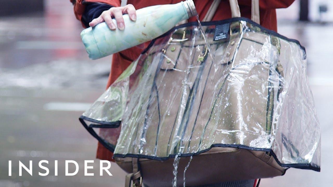 34e4d5cd9b2c We Tried A Handbag Raincoat To See If It Keeps Purses Dry - YouTube