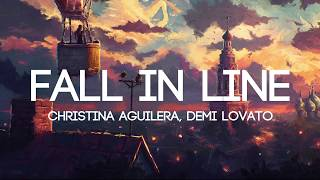 Christina Aguilera - Fall In Line ft. Demi Lovato (Lyrics/Lyrics Video) Video