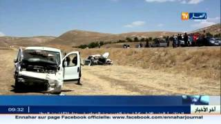 تيسمسيلت: حادث مرور خطير يخلف 5 قتلى بالطريق الوطني رقم 14