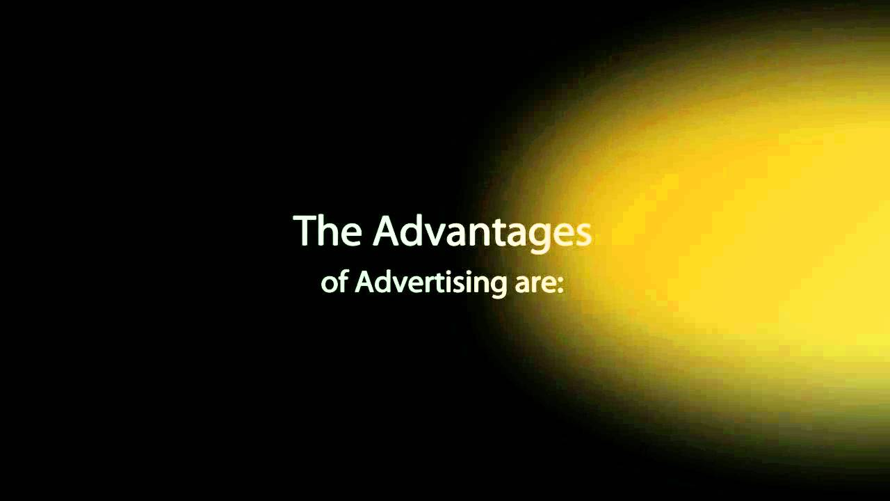 What are the advantages and disadvantages of advertising?