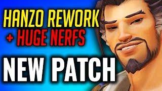 New Hanzo Rework & Huge Nerfs in PTR Patch [Overwatch]