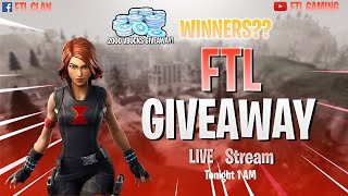 🔴LIVE- FORTNITE [GIVEAWAYS] & CUSTOM LOBBIES! FTL GAMING
