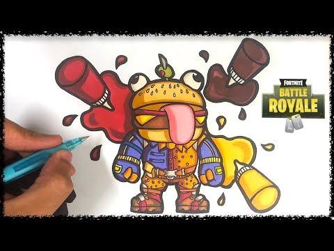 Comment Dessiner Boss Burger Fortnite Youtube