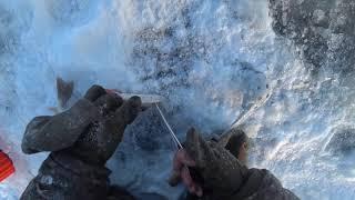 Рыбалка на озере жерлицами 2020 2 часть