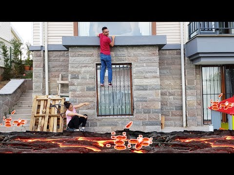 The Floor İs Lava CHALLENGE !!! YERDE LAV VAR CHALLENGE