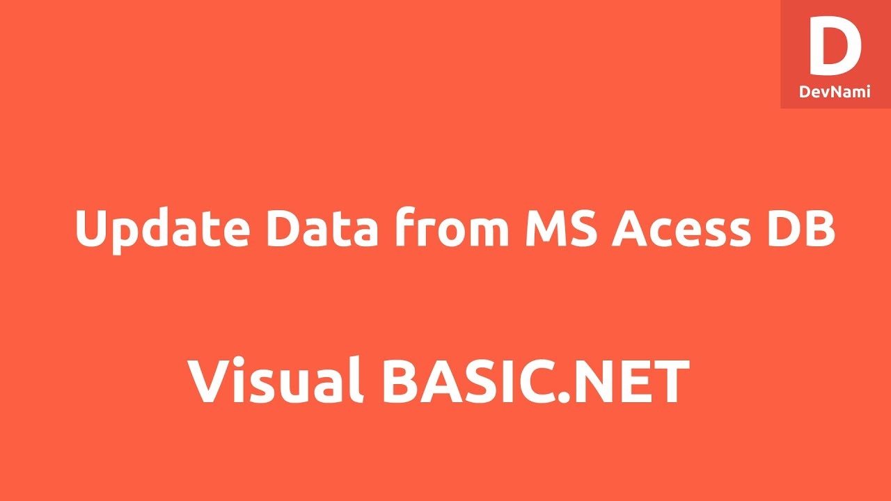 Updating access database in vb net