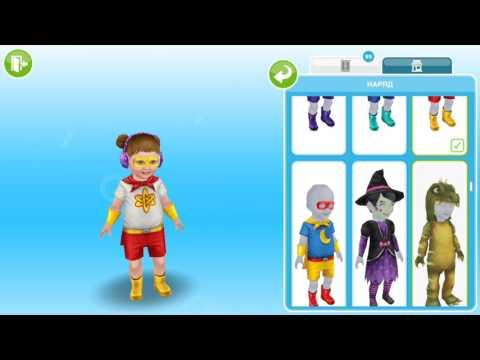 Одежда для малышей в The Sims FreePlay